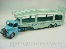 1. Brinquedos antigos - Dinky Toys - Caminhão Cegonha Pullmore Car Transporter with Bedford Tractor Ano 1953