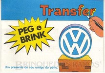 Brinquedos Antigos - Sem identifica��o - Transfer Peg e Brink brinde da Rede Autorizada Volkswagen D�cada de 1970