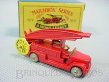 1. Brinquedos antigos - Matchbox - Dennis Fire Escape Metal Regular Wheels Reprodução de modelo lançado em 1957 Ano 1988