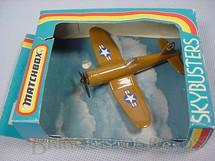 1. Brinquedos antigos - Matchbox - Inbrima - Corsair F4U Sky Busters marrom Brazilian Matchbox Inbrima 1970
