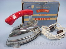 1. Brinquedos antigos - Elektrit - Ferro de passar Roupa de Bonecas elétrico com 9,00 cm de altura Completo com base e fio Década de 1950