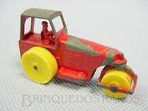 1. Brinquedos antigos - Matchbox - Irta - Aveling Barford Road Roller vermelho Yellow Plastic Wheels Brazilian Matchbox Irta 1960