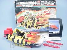 1. Brinquedos antigos - Estrela - Comandos em Ação Tigre Lancha Canhoneira com Caixa Original manual e Catálogo Faltam dois mísseis