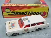 1. Brinquedos antigos - Matchbox - Mercury Police Car Speed Kings
