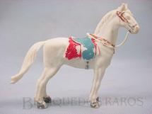1. Brinquedos antigos - Casablanca e Gulliver - Cavalo de Cowboy branco Séries Planície Selvagem e Independência ou Morte Década de 1970