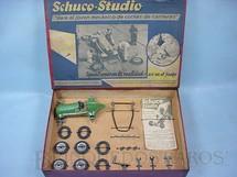 1. Brinquedos antigos - Schuco - Conjunto para montar um Carro de Corridas Schuco Studio 1050 Completo versão para o Mercado Espanhol Ano 1946 a 1947