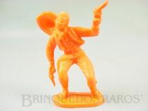 1. Brinquedos antigos - Casablanca e Gulliver - Cowboy baleado de plástico laranja Década de 1980