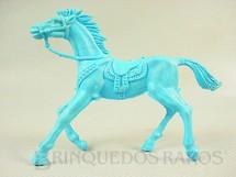 1. Brinquedos antigos - Casablanca e Gulliver - Cavalo de Cowboy de plástico azul Década de 1980