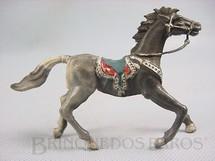 1. Brinquedos antigos - Casablanca e Gulliver - Cavalo de Cowboy Malhado Preto e Cinza