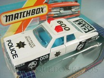 1. Brinquedos antigos - Matchbox - Plymouth Gran Fury Police Car Super Kings