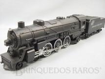1. Brinquedos antigos - Gilbert - Locomotiva a vapor American Flyer Número 2108 Chicago North Western Line Datada 5 de novembro de 1968