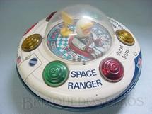 1. Brinquedos antigos - Glasslite - Disco Voador Space Ranger com 21,00 cm de diâmetro Década de 1980
