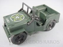 1. Brinquedos antigos - Mitroplast - Jeep Willys com 10 cm de comprimento Década de 1980