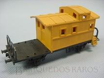 1. Brinquedos antigos - Atma - Vagão Breque amarelo longo com dois eixos Década de 1970