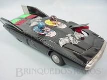 1. Brinquedos antigos - Alps - Carro do Batman Batmobile Primeiro Batmóvel fabricado 29,00 cm de comprimento Década de 1950