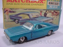 Brinquedos Antigos - Matchbox - Dodge Charger King Size azul met�lico
