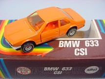 1. Brinquedos antigos - Siku-Rei - BMW 633 CSI laranja Brasilianische Siku Alfema