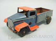 1. Brinquedos antigos - H.W.N. - Caminhão azul e vermelho com 10 cm de comprimento Década de 1940