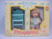 1. Brinquedos antigos - Estrela - Pituquinha com Cadeirão fabricada sob licença de Famosa Espanha Década de 1980