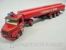 1. Brinquedos antigos - Arpra - Cavalo Mecânico Scania Vabis 112H com Carreta 1º Grupamento de Incêndio