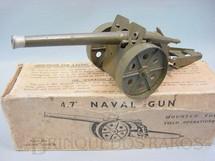 """1. Brinquedos antigos - Britains - Canhão Naval com 18,00 cm de comprimento 4.7"""" Naval Gun Mounted for Field Operations Atira balas de metal Década de 1950"""