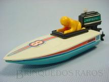 1. Brinquedos antigos - Estrela - Chispinha Lancha de Corrida com motor de pôpa 14,00 cm de comprimento Década de 1980