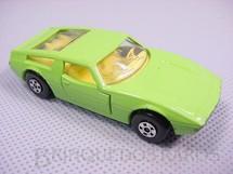 1. Brinquedos antigos - Matchbox - Inbrima - Maserati Bora Superfast verde limão Brazilian Matchbox Inbrima 1970