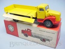 1. Brinquedos antigos - Juê - Caminhão Scania Vabis L76 Carroceria com laterais basculante Década de 1970