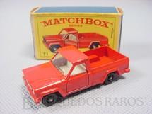 1. Brinquedos antigos - Matchbox - Jeep Gladiator Pick Up black plastic Regular Wheels