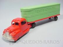 1. Brinquedos antigos - Tootsietoy - Cavalo Mecânico e carreta Baú com 22,00 cm de comprimento Década de 1950