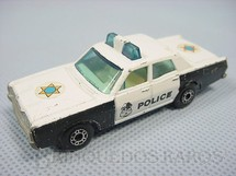 1. Brinquedos antigos - Matchbox - Plymouth Police Car Superfast on Mercury chassi