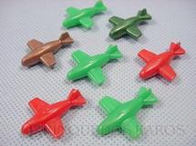 1. Brinquedos antigos - Sem identificação - Avião com 3,00 cm de comprimento Diversas cores Década de 1950 Preço por unidade