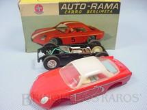 1. Brinquedos antigos - Estrela - Willys Interlagos Berlineta vermelha com capota branca Chassi de plástico preto Ano 1965