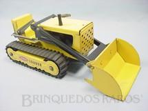 1. Brinquedos antigos - Tonka - Trator de esteiras com pá carregadeira Tonka Loader 30,00 cm de comprimento Década de 1980