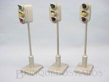 1. Brinquedos antigos - MosKabel - Farol de tráfego 20,00 cm de altura com 3 lâmpadas Década de 1930
