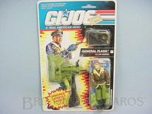 1. Brinquedos antigos - Hasbro - General Flagg, completo, lacrado. Ano 1991