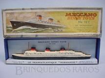 1. Brinquedos antigos - Dinky Toys - Navio Normandie No 52C Década de 1930