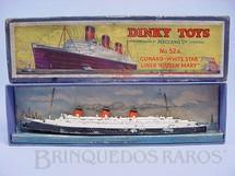 1. Brinquedos antigos - Dinky Toys - Navio Queen Mary No 52A Década de 1930