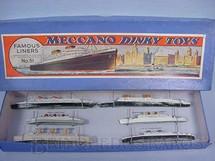 1. Brinquedos antigos - Dinky Toys - Conjunto Famous Liners com seis navios de passageiros No 51 Década de 1930