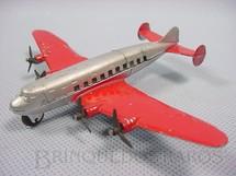 1. Brinquedos antigos - Tootsietoy - Avião Quadrimotor de Passageiros com 10,00 cm de comprimento Série Jumbos Década de 1930