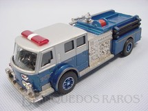1. Brinquedos antigos - Corgi Toys - Caminhão de Bombeiro com cinco figuras American LaFrance Fire Bumper Década de 1990