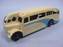 1. Brinquedos antigos - Dinky Toys - Singledeck Bus creme e azul Ano 1940