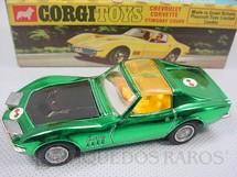 1. Brinquedos antigos - Corgi Toys - Chevrolet Corvette Sting Ray Coupe Take-Off Wheels Ano 1971