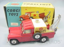 1. Brinquedos antigos - Corgi Toys - Land Rover Breakdown Truck Ano 1962