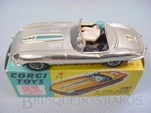 1. Brinquedos antigos - Corgi Toys - Jaguar E Type Competition Model Cromado Ano 1966