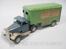 1. Brinquedos antigos - Tri Ang Minic - Cavalo Mecânico e Carreta Baú Minic Transport Articulated Pantechnicon 17,00 cm de comprimento Década de 1940