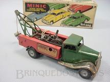 1. Brinquedos antigos - Tri Ang Minic - Caminhão Guincho Breakdown Lorry Minic Motor Service Co. com dois motores 16,00 cm de comprimento Década de 1940