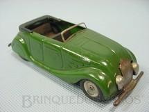1. Brinquedos antigos - Tri Ang Minic - Carro conversível Streamline Sports Tourer Minic verde com bancos de madeira 13,00 cm de comprimento Década de 1940