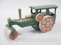1. Brinquedos antigos - Tri Ang Minic - Rolo Compactador com rodas de madeira Steam Roller Minic 13,00 cm de comprimento Década de 1930