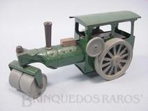 1. Brinquedos antigos - Tri Ang Minic - Rolo Compactador com rodas de plástico Steam Roller Minic 13,00 cm de comprimento Década de 1940